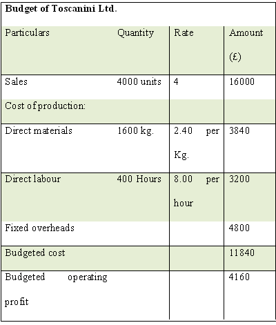 Assignment management accounting costing and budgeting