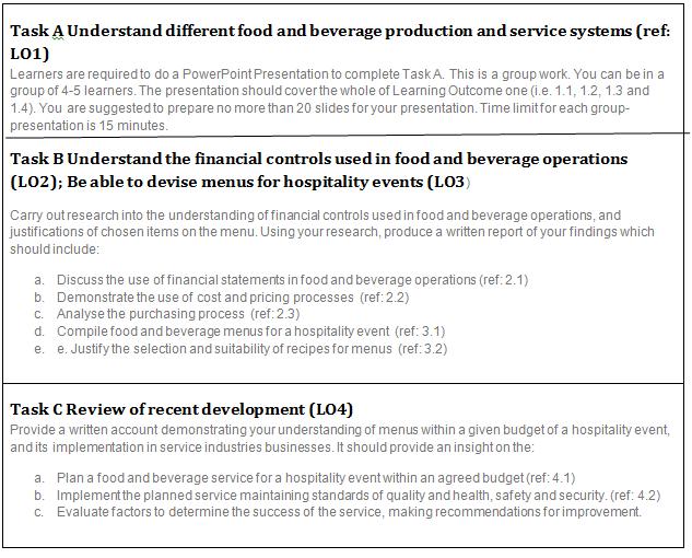 Unit 5 Food Beverage Management Assignment   Get 10% Off