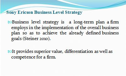 Sony Ericsson Business Strategy