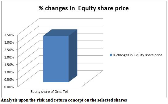 Analysis upon the risk and return concept on the selected shares