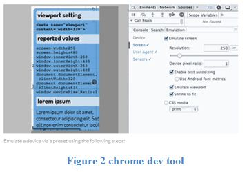 chrome dev tool