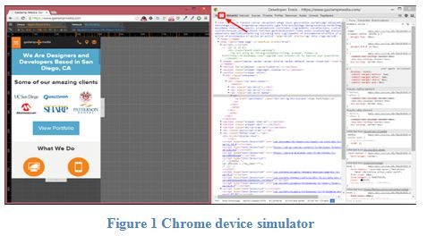 Chrome device simulator