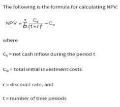 Calculation of NPV
