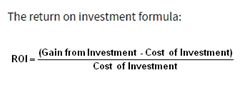 Calculation of Return on investment