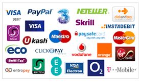 Methods of payment for online websites and applications