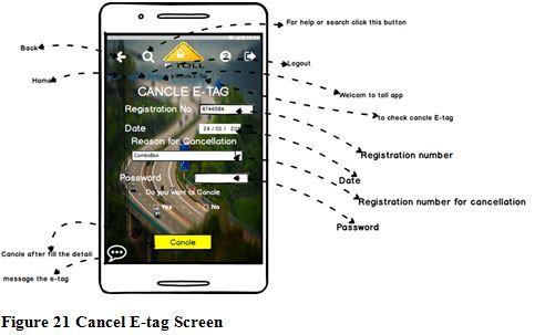 Cancel E-tag Screen