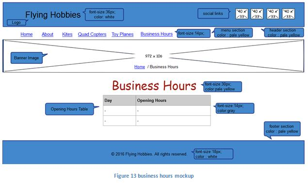 business hours mockup
