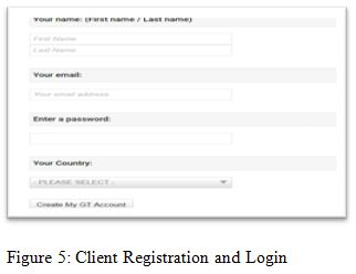 Client Registration and Login