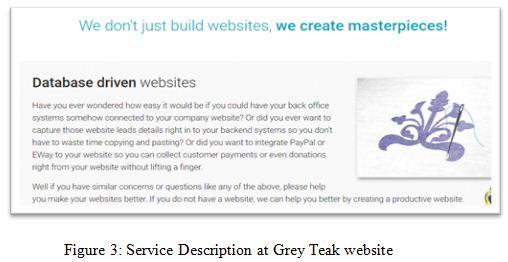 Service Description at Grey Teak website
