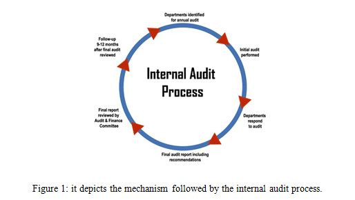 it depicts the mechanism followed by the internal audit process