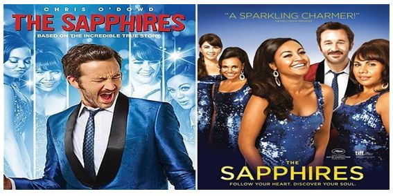 Sapphires DVD cover first published in the US (on left) and after controversy poster published in Australia (on right).