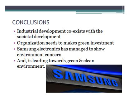 Samsung electronics Power Point Presentation