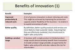 Modified innovation system