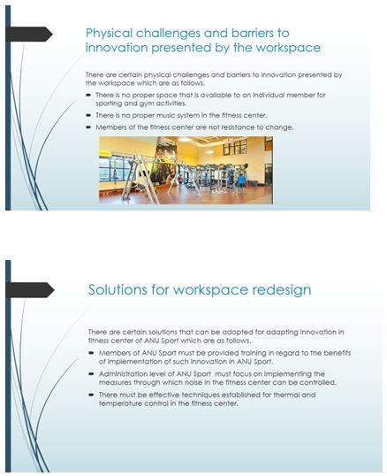 Workspace redesign