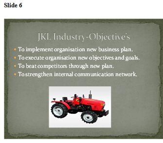 Presentation to the senior management team
