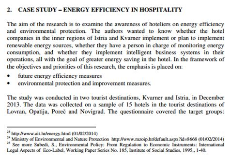 Energy Efficiency in Hospitality