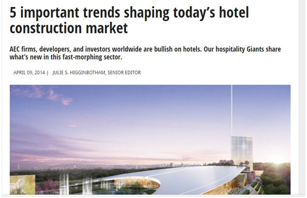 Five Important Trends Shaping Today's Hotel Construction Market