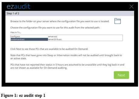ez audit step 1