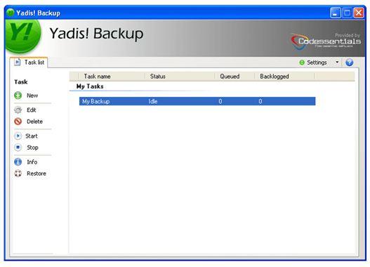 Yadis- Backup