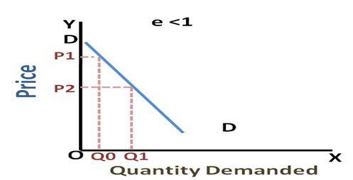 relatively Inelastic Demand